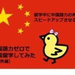 留学中に中国語力の伸びをスピードアップさせる方法|中国語力ゼロで中国留学してみた(番外編)