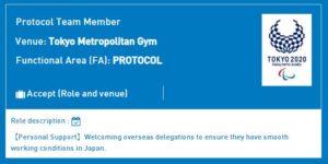 My Volunteer roles and venues for the Tokyo 2020 Olympics|Tokyo 2020 Volunteers
